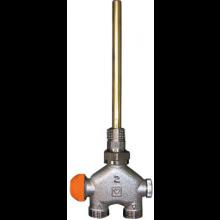 """HERZ VUA-40 radiátorový ventil 1/2"""" l=150mm, priamy, štvorcestný, dvojrúrkové sústavy"""