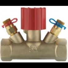 HERZ STRÖMAX-MS regulačný ventil DN20 ručný, dvojcestný, s meracími ventilčekmi, vonkajší závit