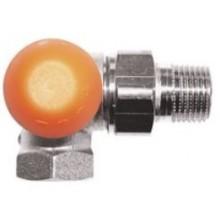 """HERZ TS-98-V AB termostatický ventil 1/2"""" trojosový, s plynulým odčítateľným prednastavením, mosadz, oranžová"""