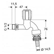 SCHELL COMFORT výtokový ventil DN15, chróm