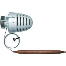 HERZ H termostatická hlavica M30x1,5, kapilára 500mm, s príložným snímačom, biela