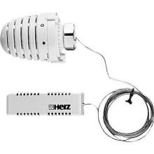 HERZ DESIGN termostatická hlavica M28x1,5, 6-28°C, s diaľkovým snímačom, biela