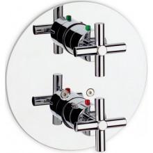 ROCA LOFT vrchná sada vaňovej-sprchovej termostatickej podomietkovej batérie s prepínačom chróm 75A0643C00