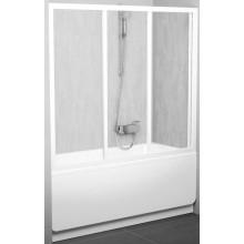 RAVAK AVDP3 160 vaňové dvere 1570-1610x1380mm trojdielne, posuvné, biela / transparent 40VS0102Z1
