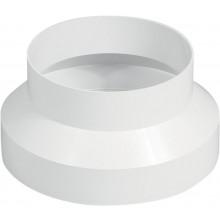 HACO RP 100/125 ventilačný systém priem. 100/129mm, redukcia plastová, biela