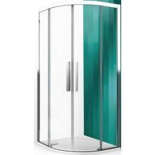 ROLTECHNIK EXCLUSIVE LINE ECR2N/1000 sprchový kút 1000x2050mm štvrťkruhový, s dvojdielnymi posuvnými dverami, rámový, brillant/transparent