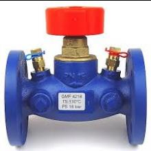 HERZ STRÖMAX-GMF uzatvárací ventil DN80 priamy, s meracími ventilčekmi, prírubový