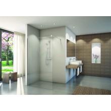 CONCEPT 200 CON4P pevná stena Walk-In 1500x2000mm, s vyrovnávacím profilom, aluchrom/číre sklo concept-clean