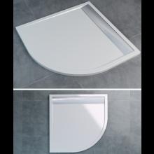 SANSWISS ILA WIR vanička 900x900x30mm štvrťkruh, vrátane sifónu a krytu, biela/biela