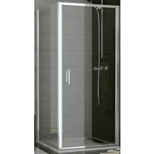SANSWISS TOP LINE TOPF bočná stena 800x1900mm, matný elox/sklo Cristal perly