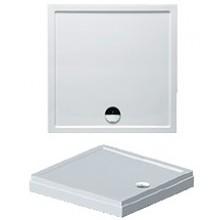 RIHO DAVOS 251 sprchová vanička 90x90x4,5cm, štvorec, vrátane panelu a nožičiek, akrylát, biela