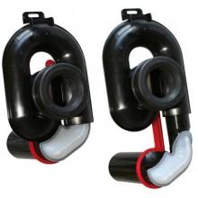 OTTO HAAS OHA sifón pisoárový DN50, výškovo nastaviteľný, plast, čierna