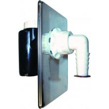 HL zápachová uzávera DN40/50 podomietková, mechanická, pre práčku, umývačku, polyetylén