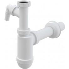"""CONCEPT umývadlový sifón 5/4""""x40mm, s prevlečnou maticou, s prípojkou, PP, biela"""