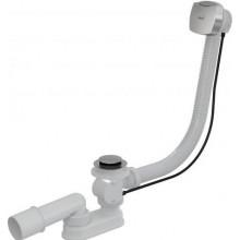 ALCAPLAST A51CR vaňový sifón pr.50/40mm, dĺžka 100cm, automat komplet, PP/kov, biela/chróm
