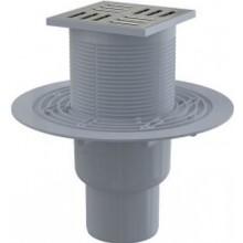 ALCAPLAST podlahová vpusť 150×150/110mm, priama, nerez