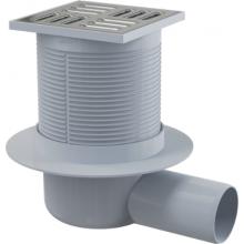 ALCAPLAST APV31 podlahová vpusť 105×105/50 bočná, kombinovaná zápachová uzávěra, PP