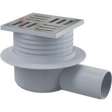 ALCAPLAST podlahová vpusť 105×105/50mm, bočná, nerez