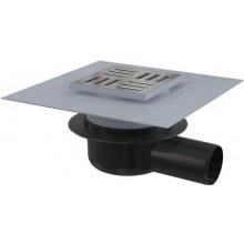 ALCAPLAST podlahová vpust 105x105mm, bočná 50mm, suchá zápachová uzávera, nerez