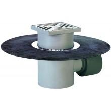 HL podlahová vpusť DN75/110, s horizontálnym odtokom a bitúmenom, polypropylén/nehrdzavejúca oceľ