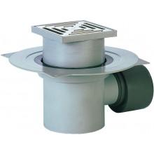 HL podlahová vpusť DN75/110 s horizontálnym odtokom a izolačnou prírubou z polypropylénu