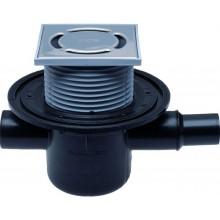 HL podlahová vpusť DN50, s vodorovným odpadom a pevnou izolačnou prírubou, polyetylén