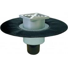 HL podlahová vpusť DN50/70/100 podlahová, so zvislým odtokom, s asfaltovou manžetou, polyetylén/nerez