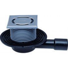 HL podlahová vpusť DN40/50 plochá, s vodorovným odpadom a zápachovým uzáverom, polyetylén/nerez