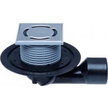 HL vpusť DN 50/75 podlahová, s kĺbom, s pevnou izolačnou prírubou, polypropylén/polyetylén/nerez