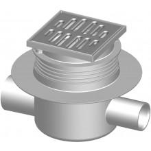SLOVARM T-1025HC vpusť podlahová DN50/40, vrátane mriežky, PP/Inox