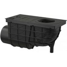 ALCAPLAST univerzálny lapač strešných splavenín 300×155/110, bočný, PP, čierna