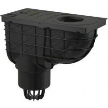 ALCAPLAST univerzálny lapač 305x155mm strešných splavenín, priamy vývod 110mm, čierna