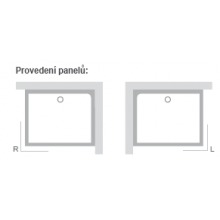 RAVAK GIGANT PRO SET P panel 1200x900mm pravá XA83GP71010