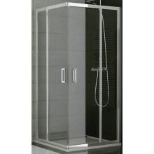 SANSWISS TOP LINE TED2 D sprchové dvere 1000x1900mm, pravé, dvojkrídlové, rohový vstup, aluchróm/sklo Durlux