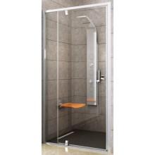 RAVAK PIVOT PDOP2 110 sprchové dvere 1061-1111x1900mm, dvojdielne, otočné, pivotové, biela/chróm/transparent