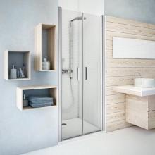 ROTH TOWER LINE TCN2/1100 sprchové dvere 1100x2000mm dvojkrídlové, bezrámové, brillant/transparent