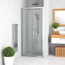 ROTH LEGA LINE LLDO2/700 sprchové dvere 700x1900mm dvojkrídlové na inštaláciu do niky, rámové, brillant/transparent