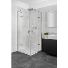 CONCEPT 400 sprchové dvere 1200x1970mm, krídlové, s pevným dielom, pravé, čierna mat/číre sklo AP