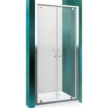 ROLTECHNIK LEGA LINE LLDO2/800 sprchové dvere 800x1900mm dvojkrídlové na inštaláciu do niky, rámové, brillant/transparent