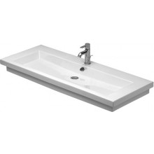 DURAVIT 2ND FLOOR umývadlo do nábytku 1200x505mm s prepadom, biela/WonderGliss 04911200261