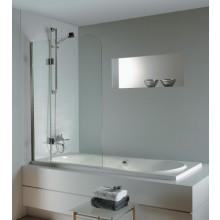 RIHO NAUTIC N500 vaňová zástena 1000x1500, dvojdielna, otočná, sklo číre/chróm