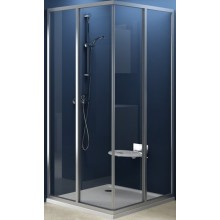 RAVAK SUPERNOVA SRV2-S 90 sprchovací kút 870x890x1850mm rohový, satin / transparent 14V70U02Z1