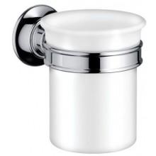 HANSGROHE AXOR MONTREUX pohár na ústnu hygienu pr.87mm, chróm, porcelán