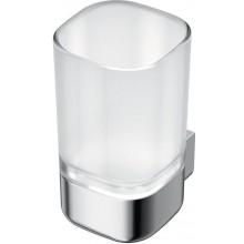 IDEAL STANDARD SOFTMOOD pohár na zubnú kefku 70x86mm chróm / sklo A9139AA