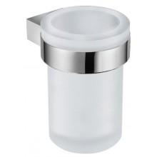 JIKA PURE držiak so skleneným pohárikom 95x95x112mm chróm / matné sklo 3.823B.1.004.000.1