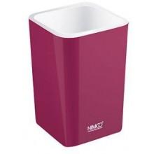 NIMCO ELI pohárik na kefky 75x75x112mm, fialová burgundská