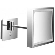 EMCO kozmetické zrkadielko 203x203mm, štvorcové, s LED osvetlením, 1 rameno, chróm