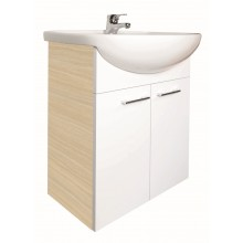 CONCEPT 50 NEW skrinka pod umývadlo 51x31,5x72cm, biela/bielený dub