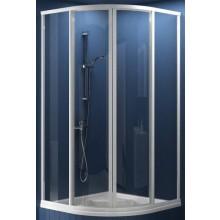 RAVAK SUPERNOVA SKCP4 SABINA 90 sprchovací kút 875-895x875-895x1700mm štvrťkruhový, znížený, posuvný, štvordielny satin / pearl 31177VU0011