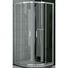 SANSWISS TOP LINE TOPR sprchový kút 900x1900mm, štvrťkruh, s dvojdielnymi posuvnými dverami, matný elox/číre sklo